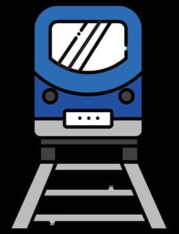 Train, Rail, Traffic, Railway, Icon, Line Drawing