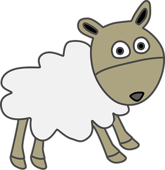 Sheep, Wool, Livestock, Cartoon, Drawing, Line Drawing
