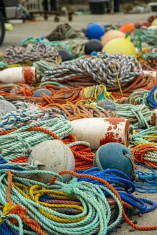 Fishing, Rope, Nets, Buoys, Nautical, Sea, Marine