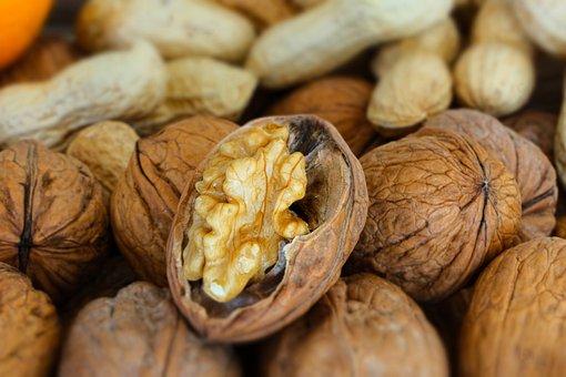 Nuts, Walnut, Peanuts, Opened, Food, Shell, Nutmeat