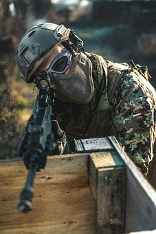 Portrait, Sniper, Soldier, Army, Weapon, Man, Person