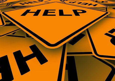 Help, Street Sign, Traffic Sign, Road Sign, Signage