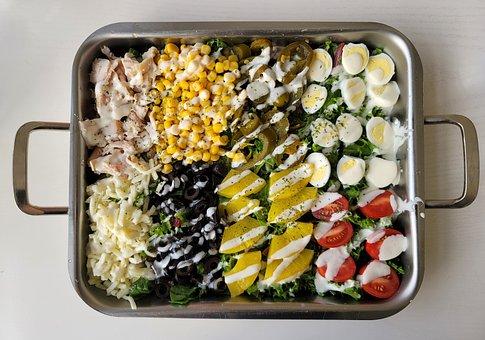 Cobb Salad, Salad, Meal, Food, Greens, Brunch