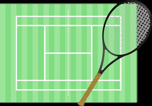 Tennis, Court, Racket, Tennis Court, Sport