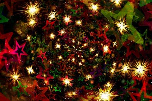 Stars, Christmas, Background, Starry, Decoration, Decor