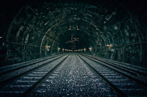 Tunnel, Track, Rails, Railway Tunnel, Traffic, Railroad