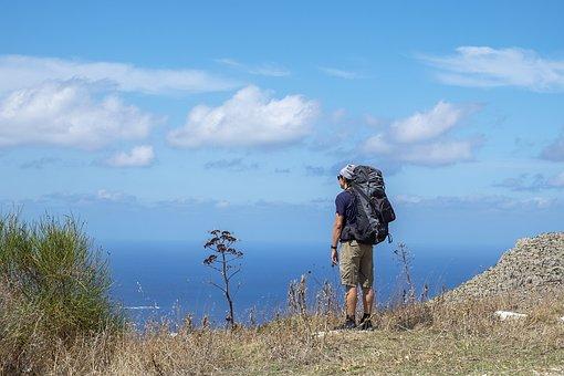 Man, Mountaineer, Mountain, Peak, Summit, View, Male