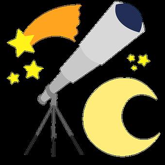 Telescope, Stars, Moon, Starry, Astrology