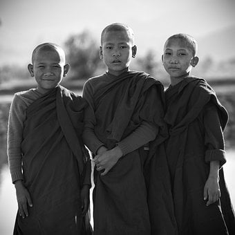 Boys, Buddhist, Monks, Young Monks, Religion