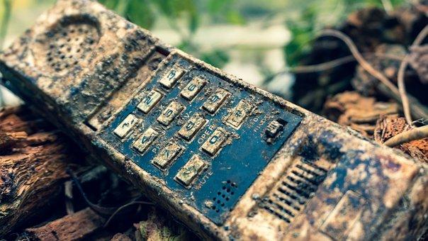 Phone, Mobile, Retro, Broken, Old, Antique, Telephone