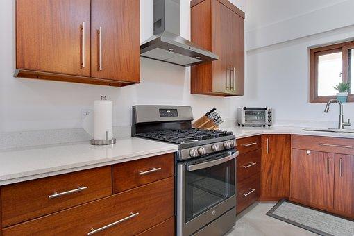 House, Interior Design, Kitchen, Countertop, Home