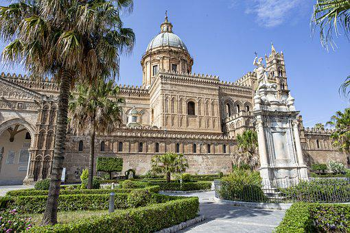 Palermo, Cathedral, Architecture, Sicily, Italy, Dom