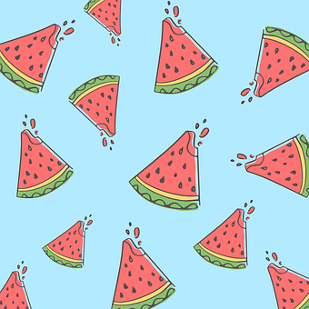 Watermelon, Fruit, Pattern, Tropical, Fresh, Food