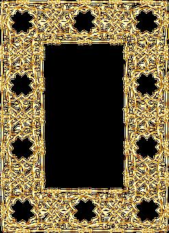 Frame, Border, Gold, Line Art, Golden, Decorative