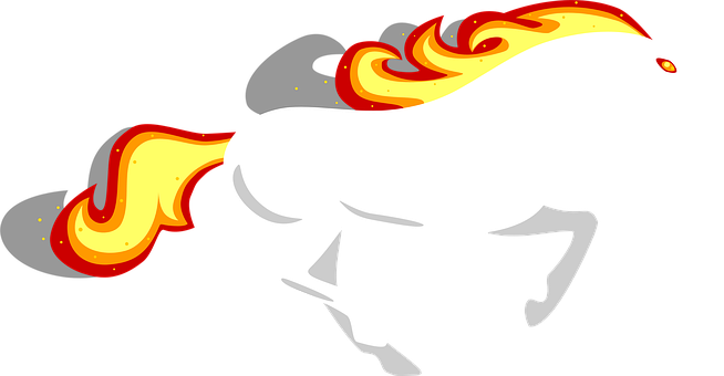 Horse, Gallop, Stallion, Running, Fire, Burn, Burning