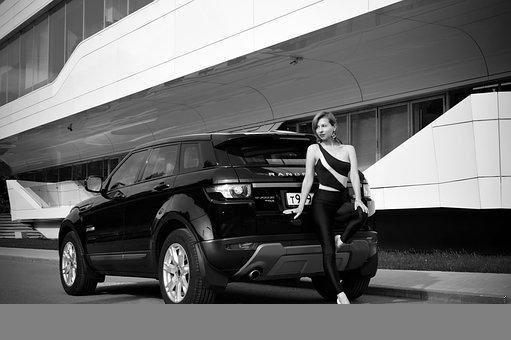 Car, Portrait, Woman, Lady, Young Woman, Female Model