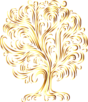 Tree, Trunk, Branches, Leaves, Outline, Foliage, Plant