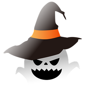 Halloween, Ghost, Monster, Witch Hat