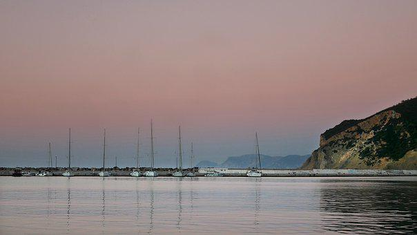 Boats, Port, Harbour, Pier, Ocean, Sea, Rocks, Waves