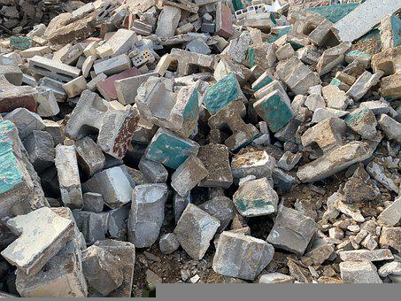 Debris, Hollow Blocks, Scrap, Rubbish, Waste, Dump