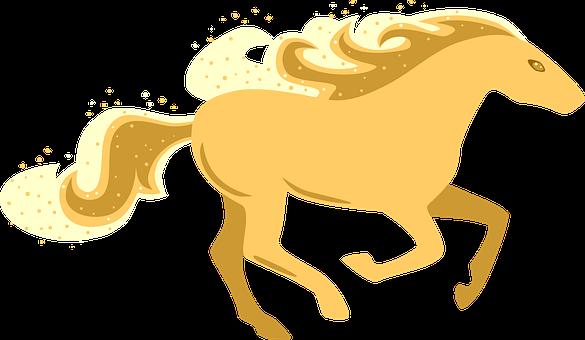 Horse, Gallop, Stallion, Running, Sand, Trot, Icon