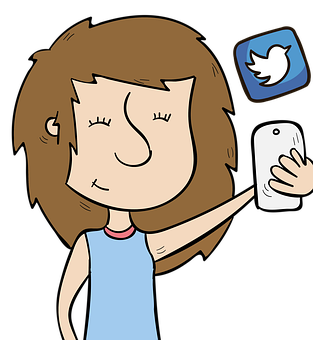 Girl, Phone, Social, Smart, Media, Twitter, Mobile