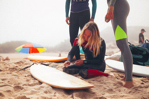 Surfers, Beach, Surfboards, Surfing, Surf, Sand
