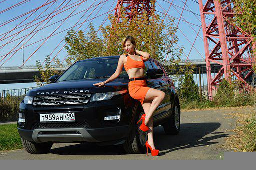 Woman, Bridge, Car, Machinery, Suv, Model, Land Rover