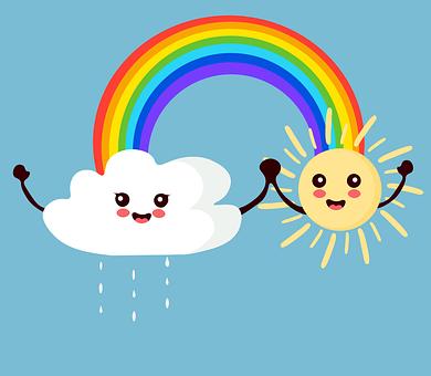 Sun, Cloud, Rain, Rainbow, Rainy, Sky, Raindrop