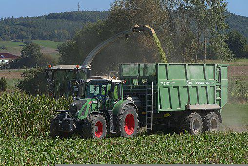 Corn Harvest, Combine Harvester, Tractor, Harvester
