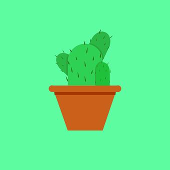 Cactus, Pot, Plant, Icon, Cactus Icon, Digital Drawing