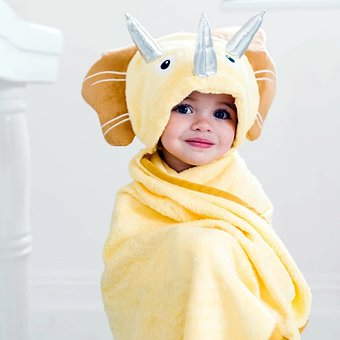 Child, Kid, Baby, Dinosaur, Towel, Hooded Towel