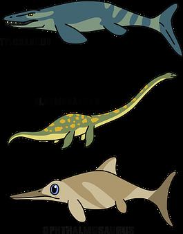 Dinosaurs, Aquatic, Reptiles, Prehistoric, Underwaters