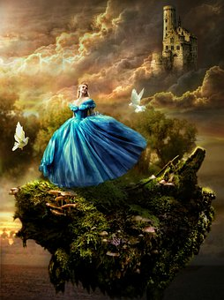 Fantasy, Fairy Tale, Princess, Castle, Birds, Mystical