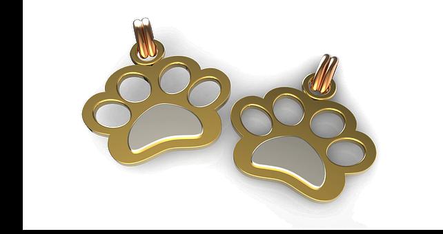 Jewelry, Gold, Dog, Puppy, Pet, Pendant, Fashion