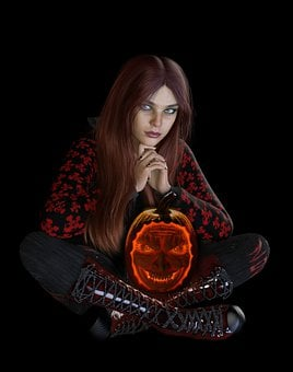 Woman, Halloween, Avatar, Jack-o'-lantern, Pumpkin