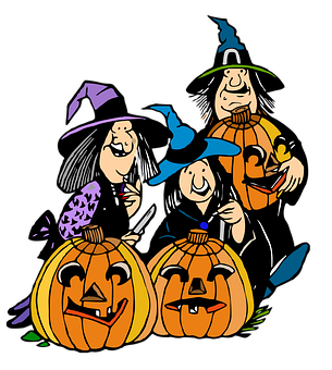 Witches, Pumpkins, Halloween, Scary, Spooky, Horror