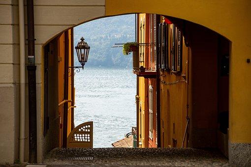 House, Building, Alleyway, Corridor, Lake, Lantern