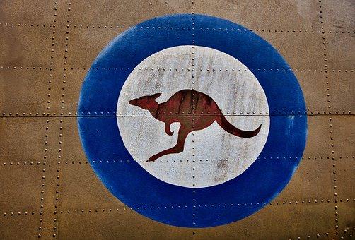 Kangaroo, Air Force, Logo, Roundel, Military