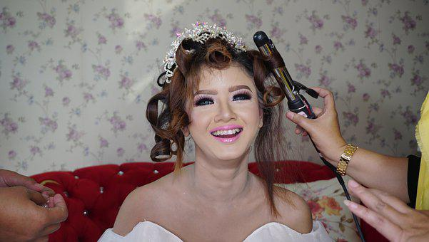 Bride, Make Up, Smile, Woman, Fashion, Happy, Lady