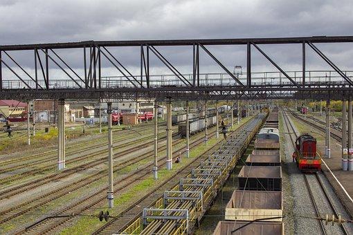 Rails, Train, Cargo, Railway, Railroad, Train Tracks