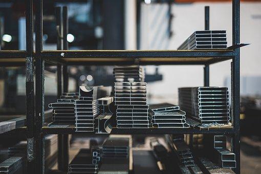 Warehouse, Steel, Metal, Iron, Materials, Raw