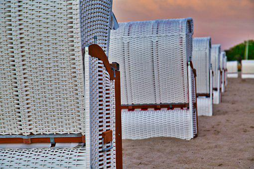 Beach, Chairs, Sand, Beach Chairs, Woven, Furniture