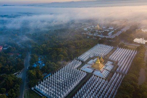 Kuthodaw Pagoda, Temple, City, Pagoda, Landmark