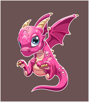 Dragon, Horns, Baby, Wings, Creature, Cartoon