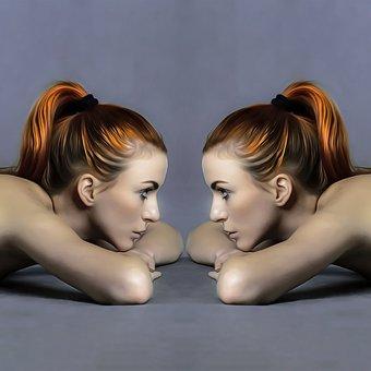 Ladies, Avatar, Twins, Mirror, Mirror Image, Pair
