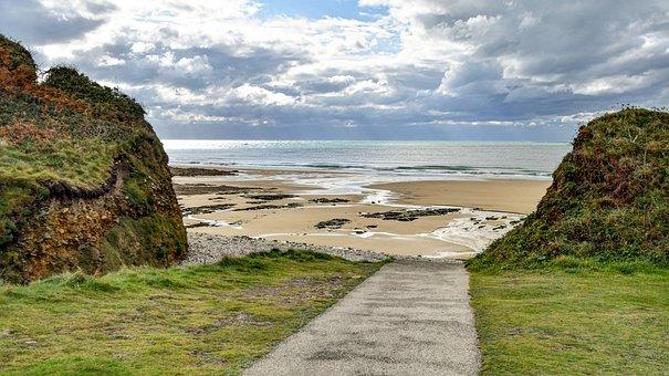 Beach, Path, Coast, Coastline, Shore, Seashore, Sea