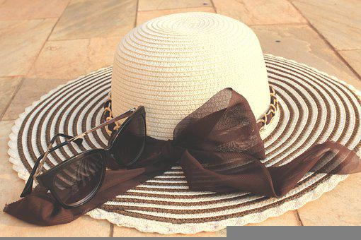 Hat, Glasses, Accessories, Summer Accessories, Day Hat