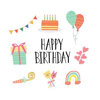 Balloons, Happy Birthday, Birthday, Party, Celebration