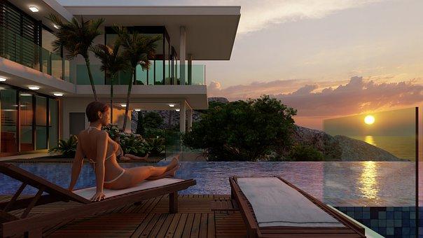 Girl, Avatar, House, Architecture, Engineering, Model